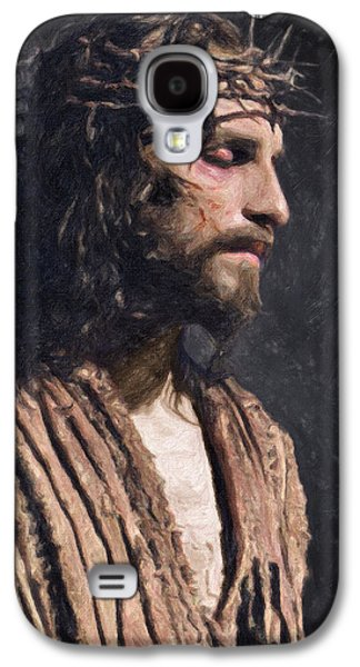 Orthodox Paintings Galaxy S4 Cases - Christ Galaxy S4 Case by Taylan Soyturk