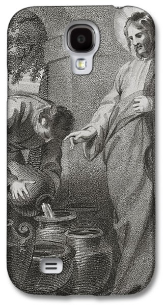 Miraculous Drawings Galaxy S4 Cases - Christ Turning Water Into Wine, From Galaxy S4 Case by Ken Welsh