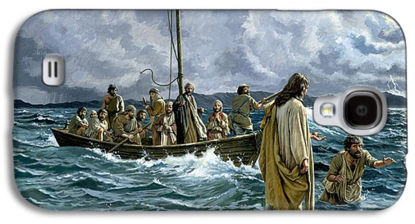 Christ Walking On The Sea Of Galilee Galaxy S4 Case by Anonymous