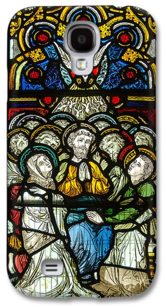 Christian Pentecost On A Stained Glass At Christ Chuch Cathedral Dublin Galaxy S4 Case by RicardMN Photography