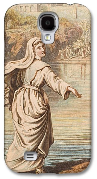 Religious Drawings Galaxy S4 Cases - Christiana Entering The River. From The Galaxy S4 Case by Vintage Design Pics