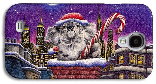 Christmas Koala In Chimney Galaxy S4 Case by Remrov