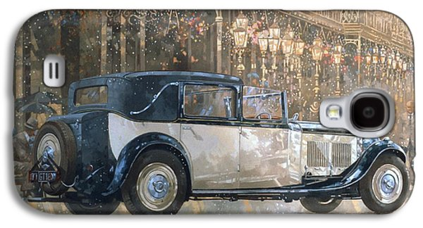 Christmas Lights And 8 Litre Bentley Galaxy S4 Case by Peter Miller