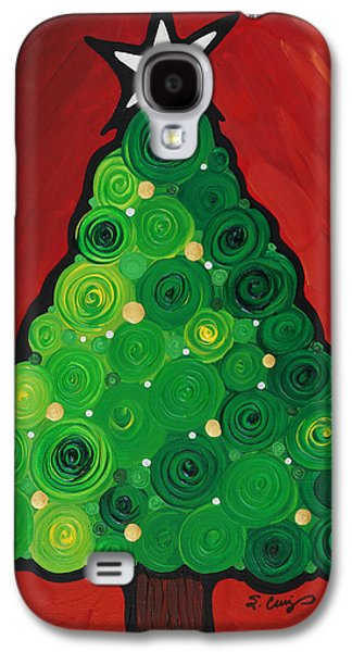 Christmas Cards - Galaxy S4 Cases - Christmas Tree Twinkle Galaxy S4 Case by Sharon Cummings