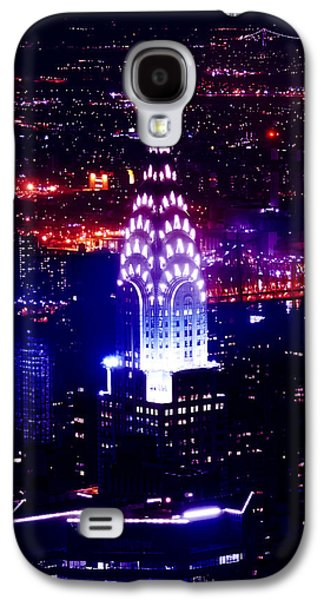 Architecture Framed Prints Galaxy S4 Cases - Chrysler Building At Night Galaxy S4 Case by Az Jackson