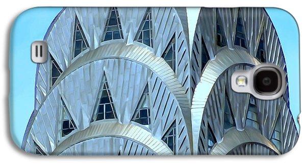 Abstract Digital Art Galaxy S4 Cases - Chrysler Closeup Galaxy S4 Case by Ed Weidman
