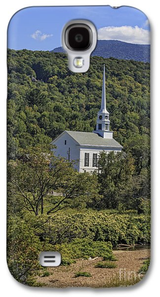 New England Village Galaxy S4 Cases - Church in Stowe Vermont Galaxy S4 Case by Edward Fielding