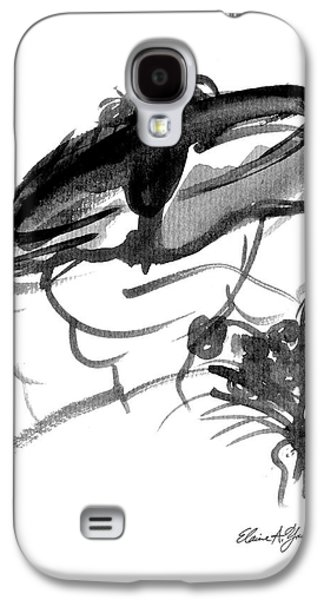 First Lady Drawings Galaxy S4 Cases - Church Lady 3 Galaxy S4 Case by Elaine Young