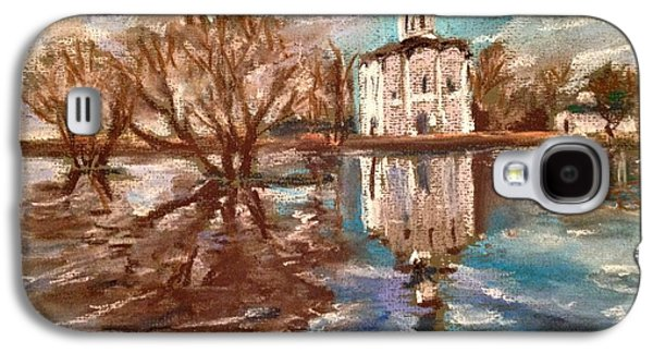 Orthodox Pastels Galaxy S4 Cases - Church of the Intercession on the Nerl Galaxy S4 Case by Masha Novoselova