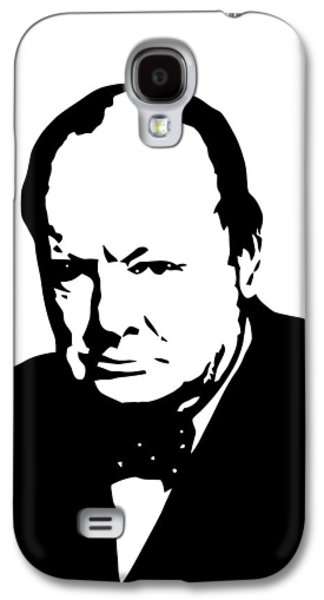 Politician Galaxy S4 Cases - Churchill Galaxy S4 Case by War Is Hell Store