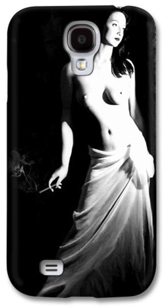 Self Portrait Photographs Galaxy S4 Cases - Cigarette Break - Self Portrait Galaxy S4 Case by Jaeda DeWalt