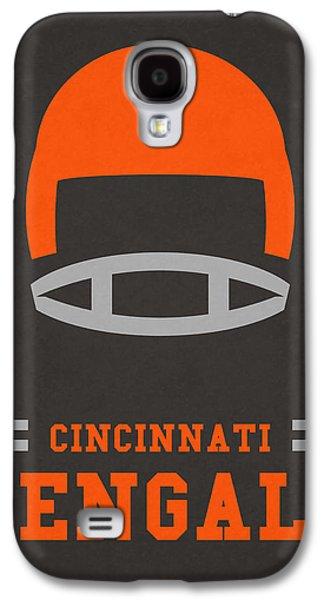 Cincinnati Bengals Vintage Art Galaxy S4 Case by Joe Hamilton