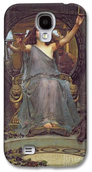 Chair Galaxy S4 Cases - Circe Offering the Cup to Ulysses Galaxy S4 Case by John Williams Waterhouse