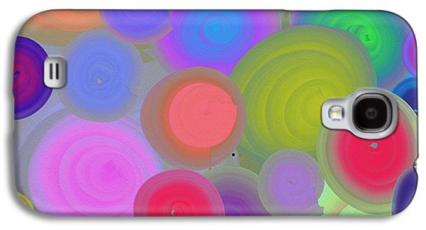 Colorful Abstract Galaxy S4 Cases - Circle Series -Metal on Metal Galaxy S4 Case by Liz Palumbo
