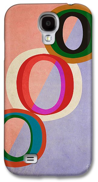 Disc Photographs Galaxy S4 Cases - Circles Abstract Galaxy S4 Case by Edward Fielding