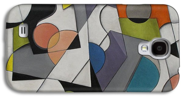 Modern Abstract Galaxy S4 Cases - Circles of Life Galaxy S4 Case by Trish Toro