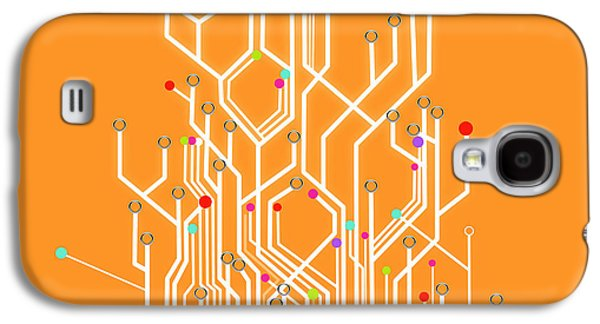 Best Sellers -  - Concept Photographs Galaxy S4 Cases - Circuit Board Graphic Galaxy S4 Case by Setsiri Silapasuwanchai