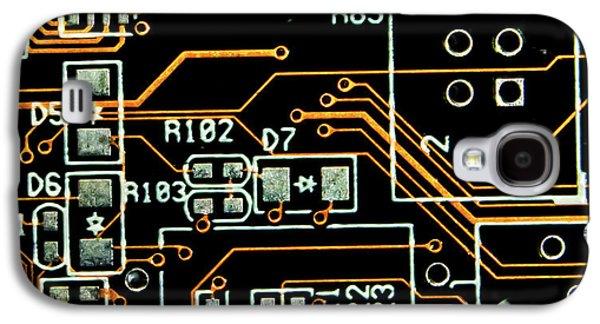 Circuit Board Galaxy S4 Case by Martin Newman