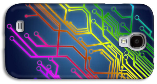 Abstract Digital Photographs Galaxy S4 Cases - Circuit Board Galaxy S4 Case by Setsiri Silapasuwanchai