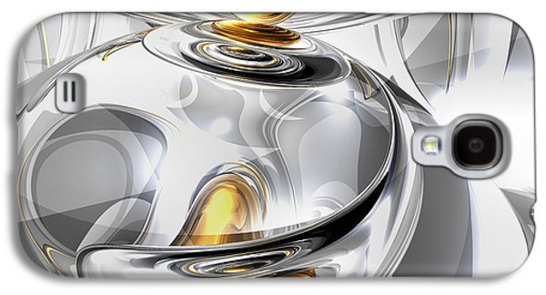Computer Generated Galaxy S4 Cases - Circumvoluted Abstract Galaxy S4 Case by Alexander Butler
