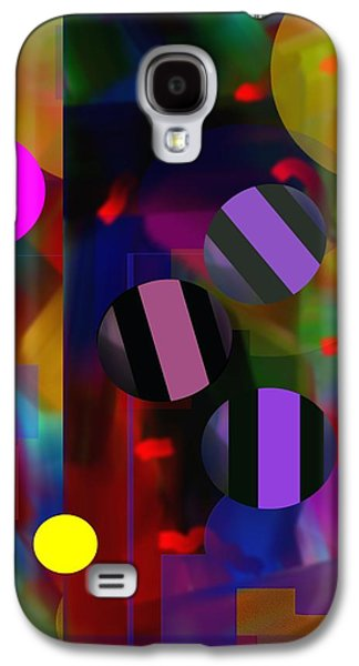 Abstract Movement Galaxy S4 Cases - Circus Balls Galaxy S4 Case by Lynda Lehmann