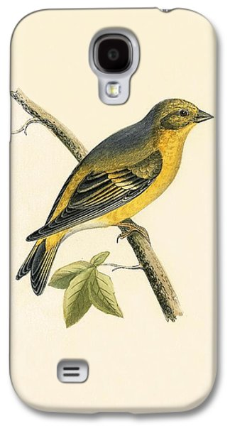 Citril Finch Galaxy S4 Case by English School
