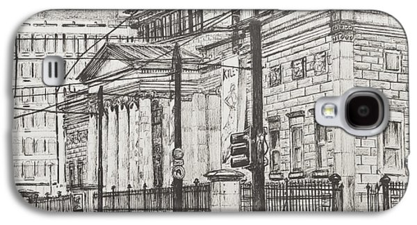 Pen And Ink Drawing Drawings Galaxy S4 Cases - City Art Gallery Galaxy S4 Case by Vincent Alexander Booth