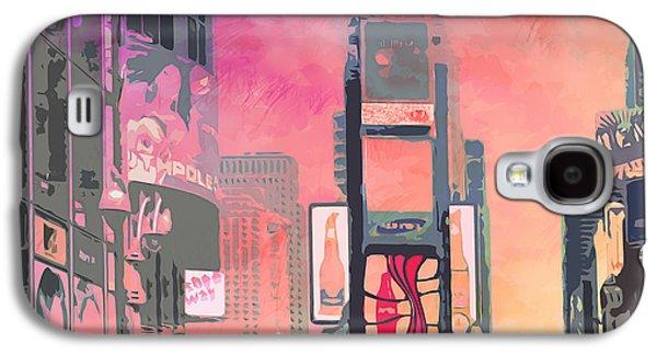 City-art Ny Times Square Galaxy S4 Case by Melanie Viola