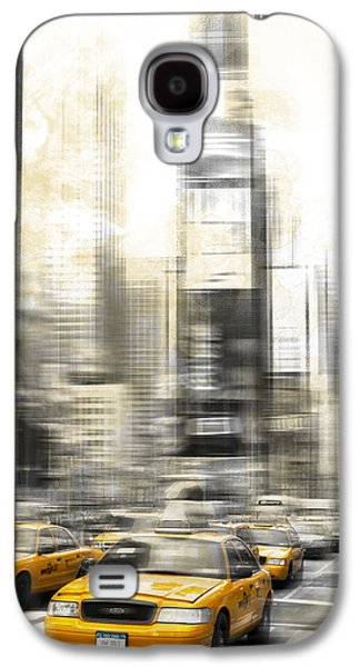 Abstract Digital Photographs Galaxy S4 Cases - City-Art TIMES SQUARE Galaxy S4 Case by Melanie Viola
