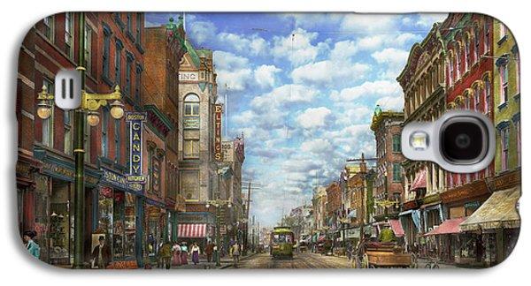 City - Ny - Main Street - Poughkeepsie Ny - 1906 Galaxy S4 Case by Mike Savad