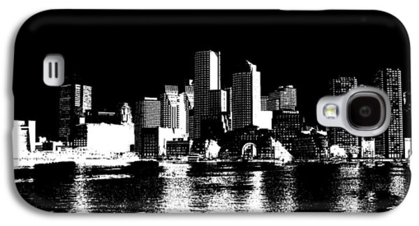 City Of Boston Skyline   Galaxy S4 Case by Enki Art