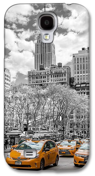 City Of Cabs Galaxy S4 Case by Az Jackson