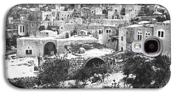 Bethlehem Galaxy S4 Cases - City of David Bethlehem Galaxy S4 Case by Munir Alawi