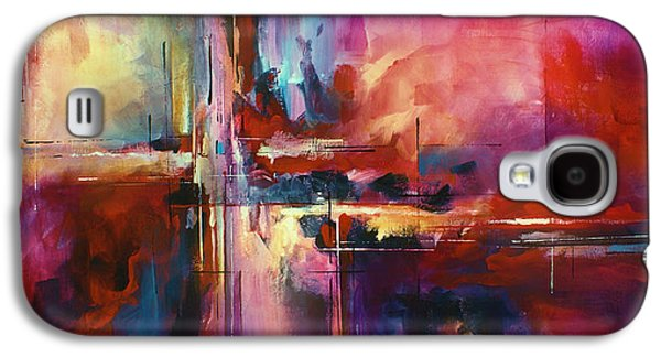 Abstract Geometric Galaxy S4 Cases - CITY of FIRE Galaxy S4 Case by Michael Lang