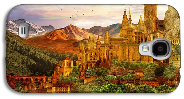 Setting Galaxy S4 Cases - City of Gold Galaxy S4 Case by Karen K