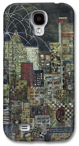 City Scape Galaxy S4 Cases - City of LIght Galaxy S4 Case by Barb Pearson