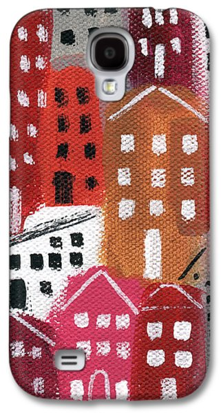 Main Street Galaxy S4 Cases - City Stories- Ruby Road Galaxy S4 Case by Linda Woods