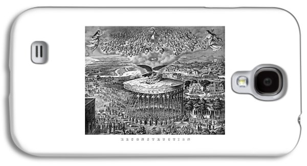 North Drawings Galaxy S4 Cases - Civil War Reconstruction Galaxy S4 Case by War Is Hell Store
