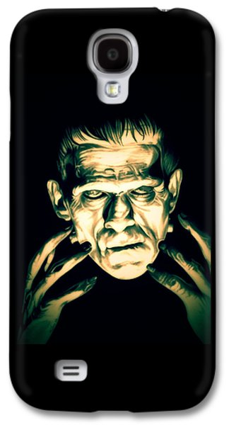 Electricity Drawings Galaxy S4 Cases - Classic Frankenstein Galaxy S4 Case by Fred Larucci
