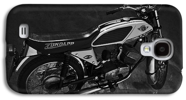 Component Photographs Galaxy S4 Cases - Classic Zundapp bike XF-17 in the garage. Monochrome Galaxy S4 Case by Angelo DeVal