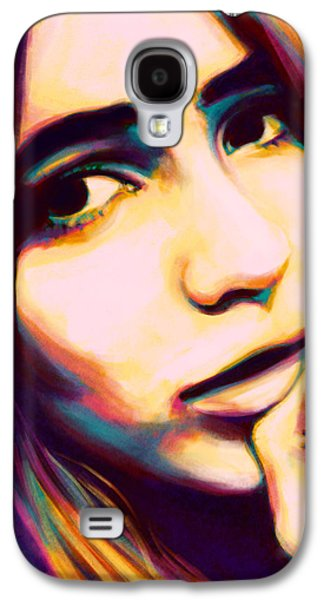 Face Digital Galaxy S4 Cases - Claudia Galaxy S4 Case by Fay Helfer