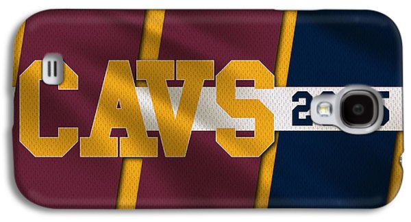 Dunk Galaxy S4 Cases - Cleveland Cavaliers Flag2 Galaxy S4 Case by Joe Hamilton