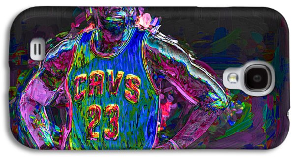 King James Galaxy S4 Cases - Cleveland Cavaliers King LeBron James Painted MIX 2 Galaxy S4 Case by David Haskett