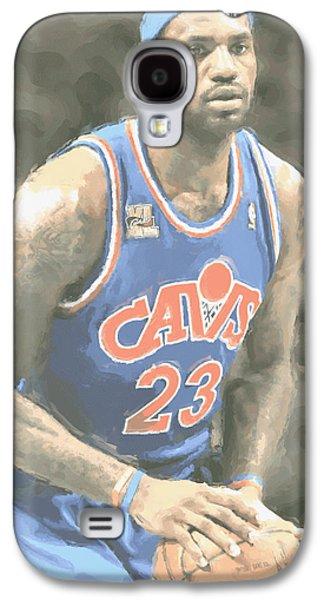 Cleveland Cavaliers Lebron James 1 Galaxy S4 Case by Joe Hamilton
