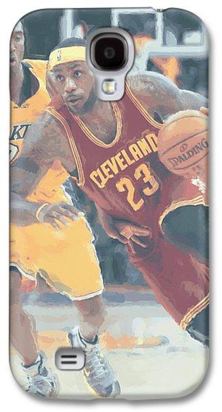 Cleveland Cavaliers Lebron James 3 Galaxy S4 Case by Joe Hamilton