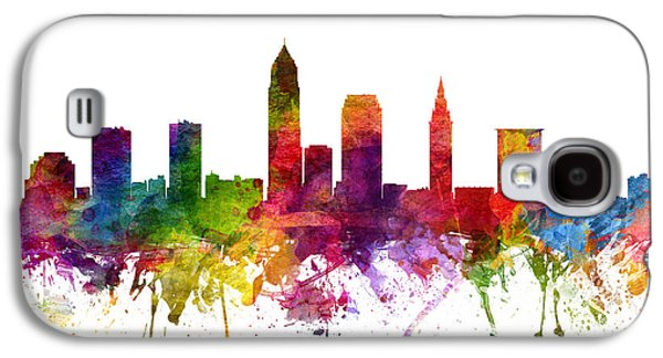 North Drawings Galaxy S4 Cases - Cleveland Cityscape 06 Galaxy S4 Case by Aged Pixel