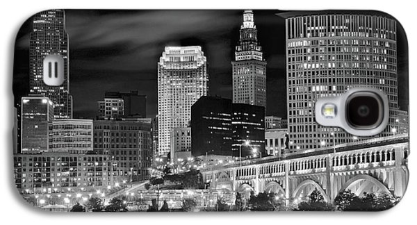 Veterans Stadium Galaxy S4 Cases - Clevelands Twin Towers Galaxy S4 Case by Frozen in Time Fine Art Photography