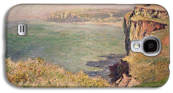 Beach Landscape Galaxy S4 Cases - Cliff at Varengeville Galaxy S4 Case by Claude Monet