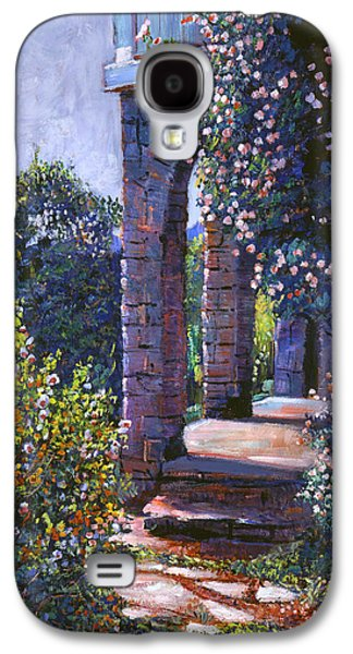 Pathway Paintings Galaxy S4 Cases - Climbing Roses Galaxy S4 Case by David Lloyd Glover