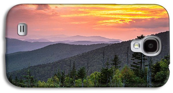Gatlinburg Galaxy S4 Cases - Clingmans Dome Great Smoky Mountains - Purple Mountains Majesty Galaxy S4 Case by Dave Allen